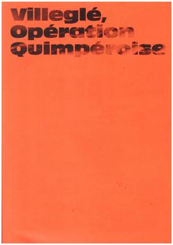 Villeglé, Opération Quimpéroise - Galerie Georges-Philippe & Nathalie Vallois